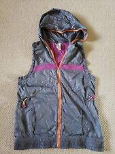 Zumba Women's Gray Pink Orange Zipper Hoodie Vest Large L