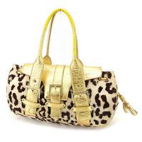 Samantha Thavasa Handbag Gold Woman Authentic Used Y7184