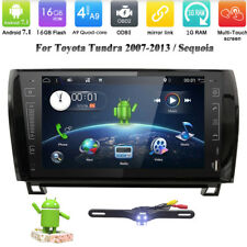 9'' Car DVD GPS Player for Toyota Tundra Sequoia Android 7.1 Radio Wifi DVR OBD2