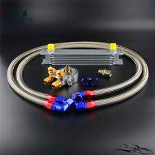 AN10 7 Row Oil Cooler w/ New-style Oil Line + thermostatic Filter Adapter kit