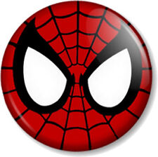 """Spider-Man Mask Superhero Comic Book Peter Parker 25mm 1"""" Pin Button Badge Red"""