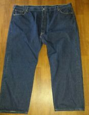 Levi's 501 Blue Jeans Meas 54x29 says 34x32 Big & Tall pants Button fly EUC