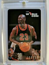 1996 96 WORLDCOM PHONE CARD Michael Jordan ,BLACK JERSEY, 30 Minutes, Rare!