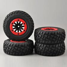 4 X Truck Tires&Bead-Lock Wheel For 1:10 Short Course RC TRAXXAS Slash Car #05