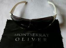 Montserrat Oliver Rectangular Sport 100% UV-UB White Driving Sunglasses #MO48436