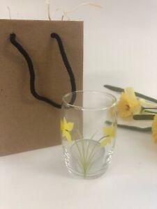 Individually hand painted Daffodil tea light holder