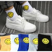 Unisex Men Women Cotton Scoks Smile face Striped Soft Ankle Casual Sock Fy