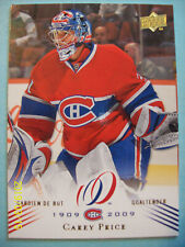 """2008-09 UD Montreal Canadiens """"100th Anniversary"""" Centennial # 168 Carey Price!"""