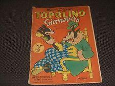 """ALBO D'ORO N.4 PRIMA RISTAMPA 1950 TOPOLINO GIORNALISTA - DISCRETO """"U"""""""