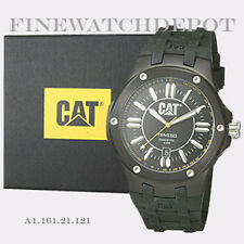 Authentic Caterpillar Men's Navigo Black Dial Analog Quartz Watch A116121121