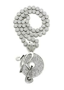 """ROCAFELLA PENDANT WITH 8mm 20"""" CLUSTER CHAIN"""
