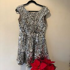 Topshop Sequin Skater Dress, Christmas Party! Size 12