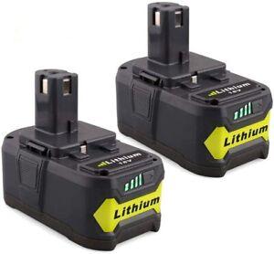 Lot 2 x Batterie Remplacement Compatible pour Ryobi ONE 18V 5.0Ah Visseuse RB18L