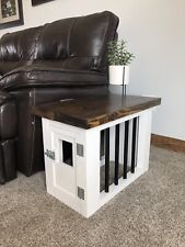 Dog Kennel Pet Crate Wooden Pet Cage End Table Furniture Indoor Cat House cute