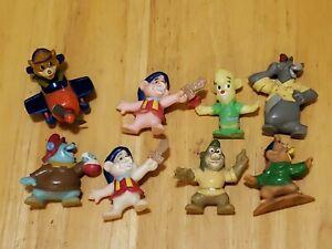 """Disney Afternoon PVC Figurine Lot 1990s Vintage 2"""" Kellogg Tale Spin Gummi Bears"""