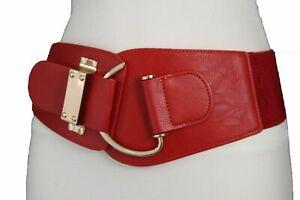 Women Hook Buckle True Red Color Sexy Wear Hot Belt Fabric Waistband L XL XXL