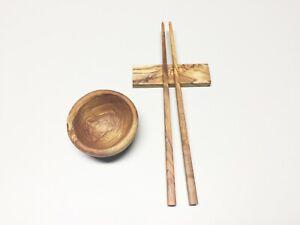 Sushi Essstäbchen 27 cm, Set wählbar, Chopsticks, handgefertigt aus Olivenholz