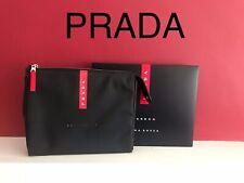 🆕PRADA Luna Rossa BLACK TRAVEL POUCH Wash BAG Brand NEW And SEALED!!!