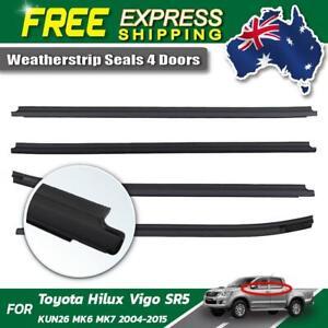 Rubber Seal Weatherstrip Belt Genuine Fits 2004-2015 Toyota Hilux SR5 4-Door Ute