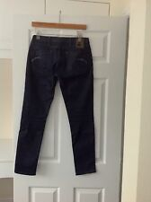 LADIES 'G STAR' DARK INDIGO JEANS. SIZE 10/ WAIST 28. LENGTH 28.5 INCHES.