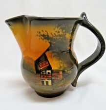 Vintage Hand Painted Pottery Art Pitcher, Signed #5