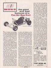 1960 Fox Go-Boy Go-Kart Article and Photo
