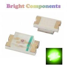 10 x 0805 Green LED (SMD) - Ultra Bright - UK - 1st CLASS POST