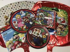 Super Mario Birthday Party Pack Plates Napkins Balloons Loot Bags Video Games