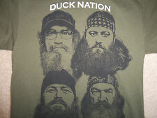 Duck Commander Robertson Duck Dynasty Phil Si Willie Jas Green Graphic T Shirt M