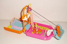 Polly pocket 2000 Trendy Tronics Television Playset lumineux + 2 personnages