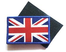 GB UNION JACK PATCH velcro backed British army cap UJ flag badge Red white blue
