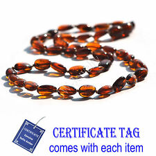 Genuine Nature Baltic Amber Knotted Adult Necklace Cognac - N80080