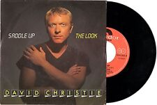 DAVID CHRISTIE disco 45 giri SADDLE UP + THE LOOK Made in Italy 1982