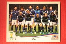 Panini BRASIL 2014 N. 546 TEAM USA WITH BLACK BACK TOPMINT!!