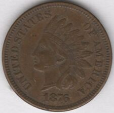 More details for 1876 u.s.a.indian head cent   world coins   pennies2pounds