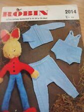 VINTAGE 1970'S ROBIN QK KNITTING PATTERN BABY's CARDIGAN LEGGINGS PANTS 20 - 24