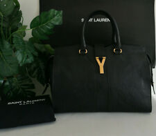 Saint Laurent Black Leather Y Cabas Classique Tote Bag RRP £1,855