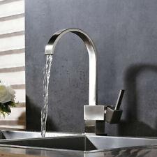 Brushed Nickel Swivel Kitchen Sink Faucet Swivel Spout Deck Mounted Mixer Tap