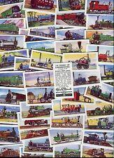 "MIRANDA CONFECTIONERY 1956 SET OF 50 ""150 YEARS OF LOCOMOTIVES"" TRADE CARDS"