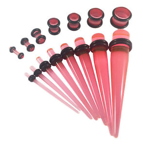 Acrylic Ear Tapers & Plugs Stretching Kit