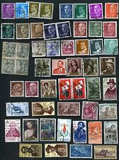 Lot de 58 Timbres Anciens oblitérés ESPAGNE - 57 Old Stamps used SPAIN