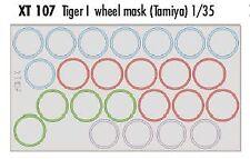 Eduard 1/35 Tiger I RUOTA maschere # XT107