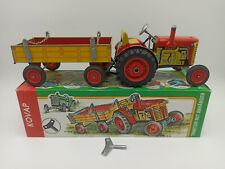 KOVAP 0395 Blechspielzeug Traktor ZETOR mit Anhänger rot Sammlerzustand #1218