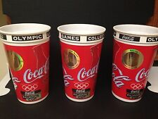 Atlanta Olympics Collector Cups w/ Gold Hologram - 1996 - Set of 5 Unused Cups