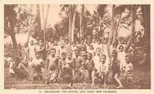 East Coast New Caledonia Melanesian Type Natives Antique Postcard J61440