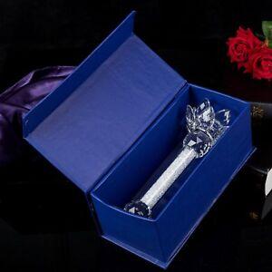 Tea light Dinner Candle Holder Crystal Lotus Flower Top Decorative Gift Present