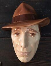 Vintage Humphrey Bogart Clay Art Mask Wall Decor