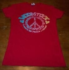 WOMEN'S TEEN WOODSTOCK MUSIC FESTIVAL Concert Music and Peace T-shirt SMALL NEW