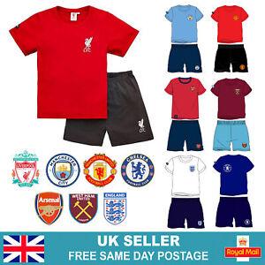 Boys Official Football Club Short Pyjamas Cotton Shortie PJs   Age 3-12   UK
