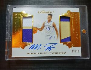 *Markelle Fultz RC RPA #/25* DUAL DIAMOND PATCH ON-CARD AUTO FLAWLESS RC 2018